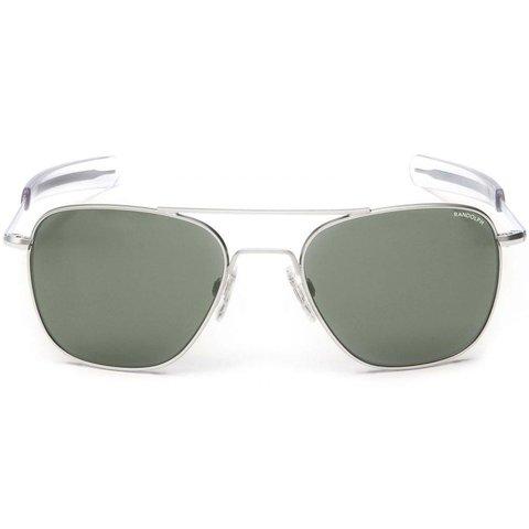 Aviator Matte Chrome Bayonet Glass AGX AR 58 Sunglasses