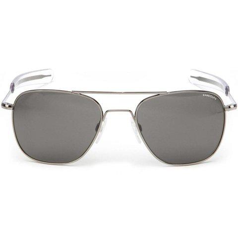 Aviator Gun Metal Bayonet  Gray AR 55 Sunglasses