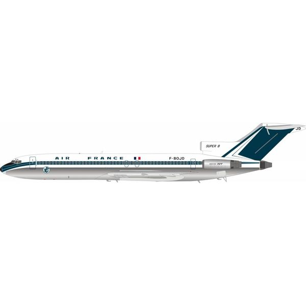 InFlight B727-200 Air France F-BODJ old livery navy tail 1:200 polished with stand