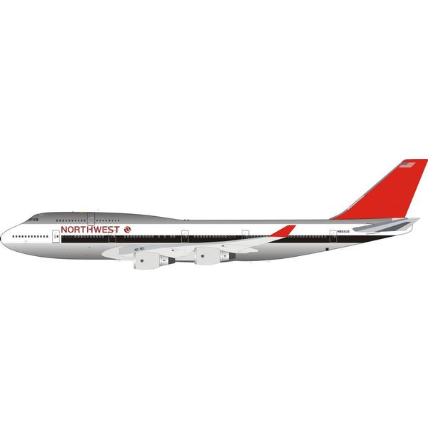 InFlight B747-400 Northwest N662US (Orient livery) 1:200 polished with stand