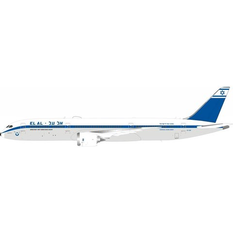 B787-9 Dreamliner ElAl retro livery 4X-EDF 1:200 with stand