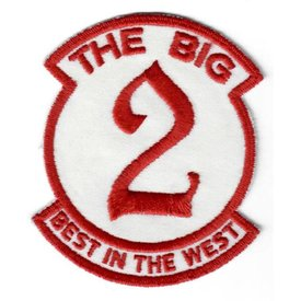 "avworld.ca Patch The Big 2 Best In the West 3"" x 3 5/8"""