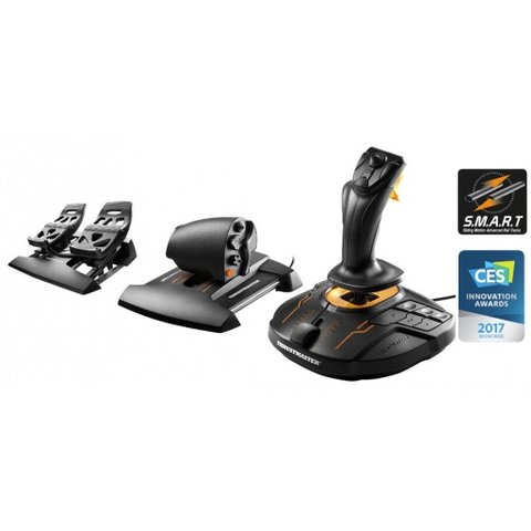 T16000M FCS Flight Pack Joystick, Throttle, Rudder Pedals for PC (Windows Vista, 7, 8, 10)(English Only)