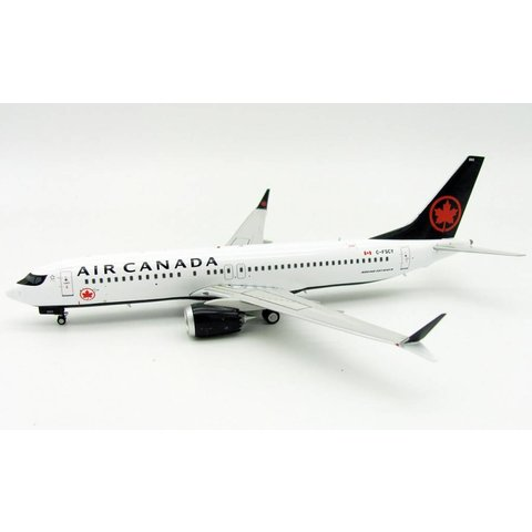 B737 MAX8 Air Canada 2017 Livery C-FSCY f/n 502 1:200 With Stand