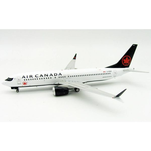InFlight B737 MAX8 Air Canada 2017 Livery C-FSCY f/n 502 1:200 With Stand