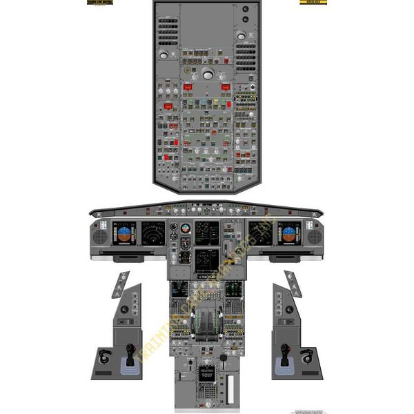 Laminated Cockpit Training Poster A330