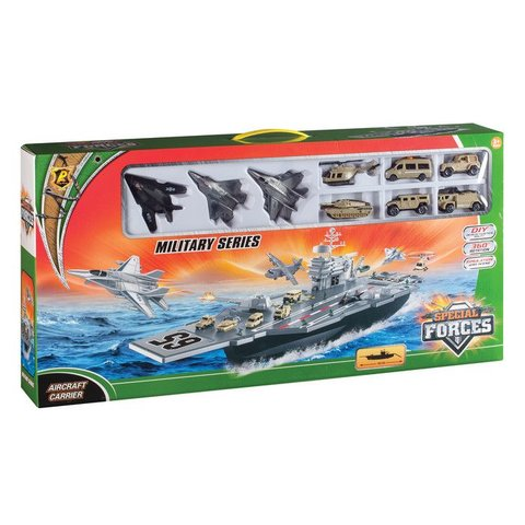 Aircraft Carrier with Diecast Planes & Helicopters Toy 34""