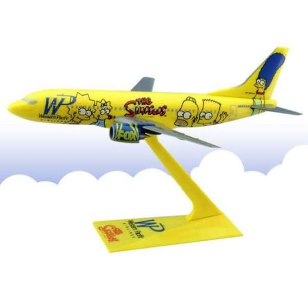 B737-300 Wesern Pacific Simpsons 1:200 with stand