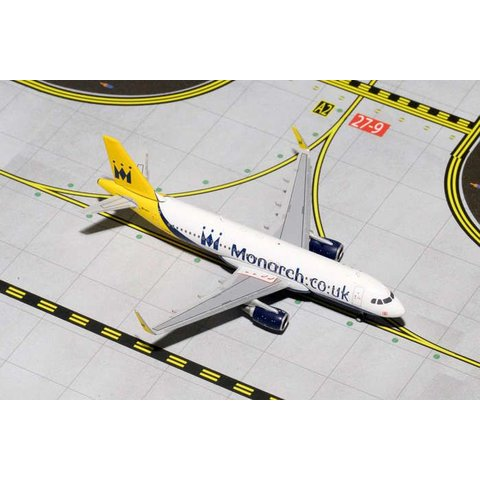 A320S Monarch New Livery G-ZBAA 1:400 (2e) (sharklets)