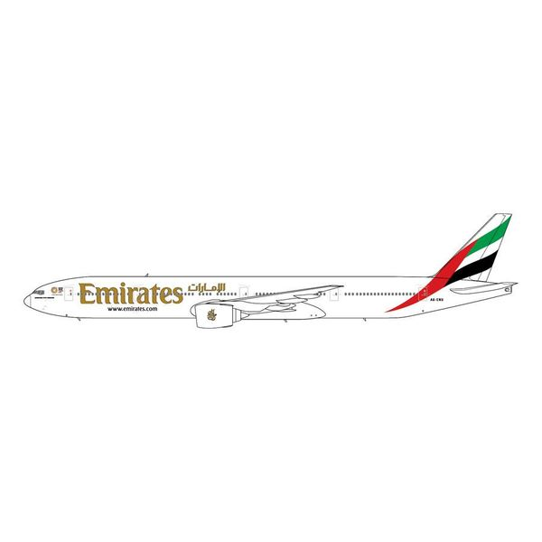 Gemini Jets B777-300ER Emirates A6-ENU New Expo 2020 1:200 with stand (10th release)