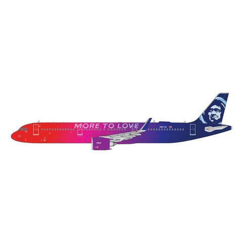 A321neo Alaska Airlines More to Love N927VA 1:200 with stand