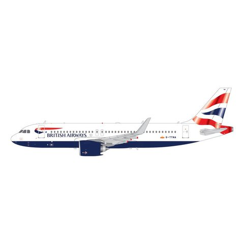 A320neo British Airways G-TTNA 1:200 with stand