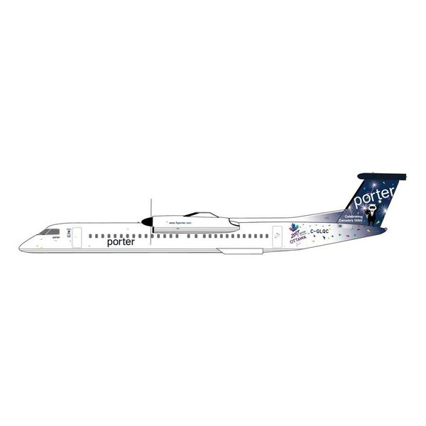 Gemini Jets Dash8 Q400 porter Canada 150 C-GLQC 1:400