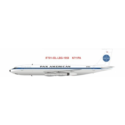 B707-121 PAN AMERICAN Clipper America N711PA 60th anniversary Polished 1:200 with stand
