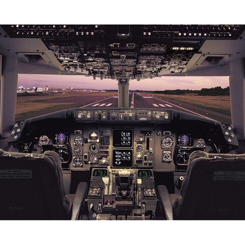 Poster B767 Flight Deck