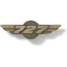 Boeing Store Pin 727 Wings Bronze 1 1/2""