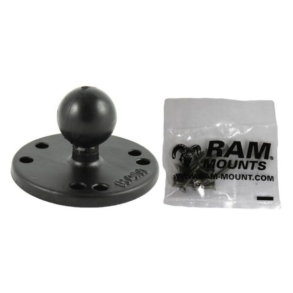 Ram Mounts Base 2.5'' Dia.Base With 1'' Ball & screws