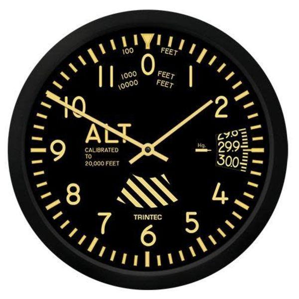 Trintec Industries Vintage Altimeter Clock