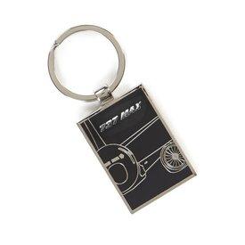 Boeing Store 737 MAX Midnight Silver Keychain