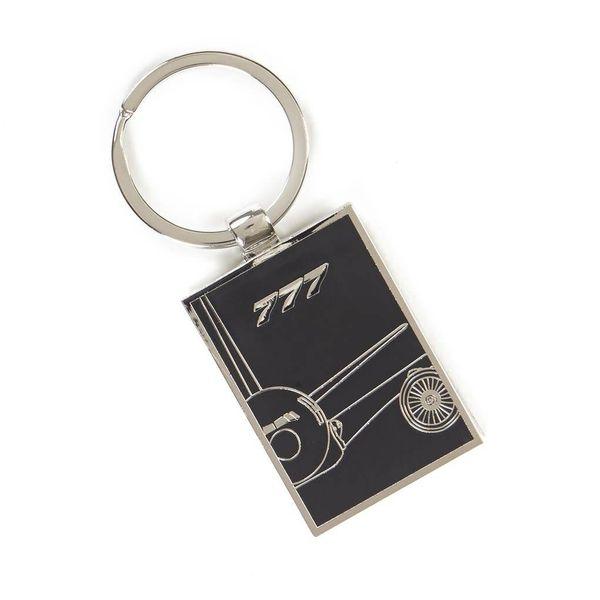 Boeing Store 777X Midnight Silver Keychain