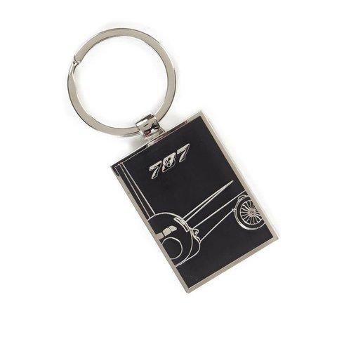 787 Dreamliner Midnight Silver Keychain