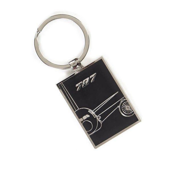 Boeing Store 787 Dreamliner Midnight Silver Keychain
