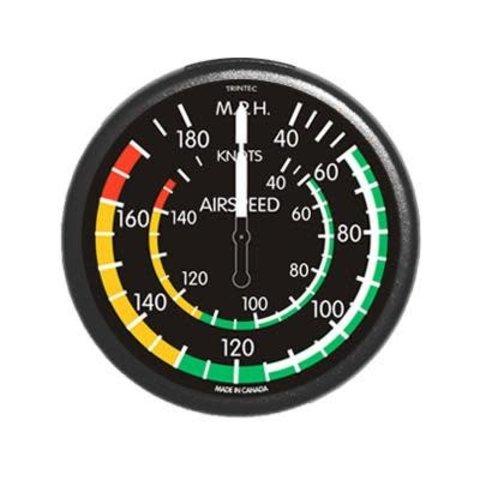 Classic Round Airspeed Indicator Fridge Magnet