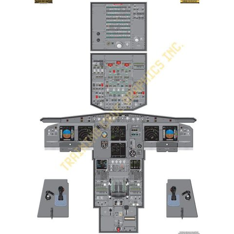 Laminated Cockpit Training Poster A319/A320/A321