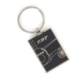Boeing Store 737 Midnight Silver Keychain