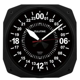 Trintec Industries 24-Hour Instrument Style Wall Clock