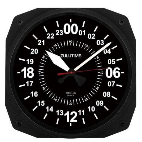 Trintec Industries 24-Hour Instrument Style Clock