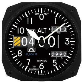 Trintec Industries Modern Altimeter Instrument Style Wall Clock