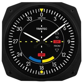 Trintec Industries Classic VOR Instrument Style Wall Clock