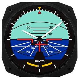 Trintec Industries Classic Artificial Horizon Instrument Style Wall Clock