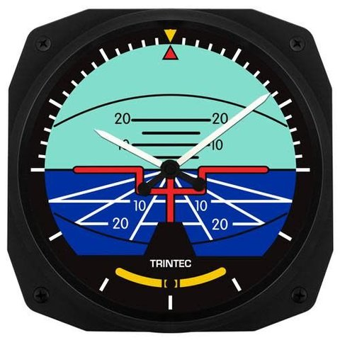 Classic Artificial Horizon Instrument Style Wall Clock