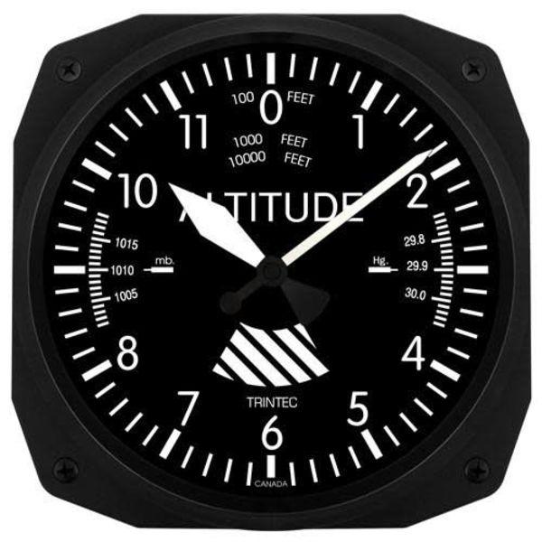 Trintec Industries Classic Altimeter Instrument Style Clock