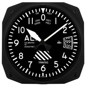 Trintec Industries Altimeter Instrument Style Wall Clock