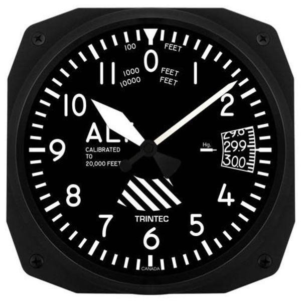 Trintec Industries Altimeter Instrument Style Clock