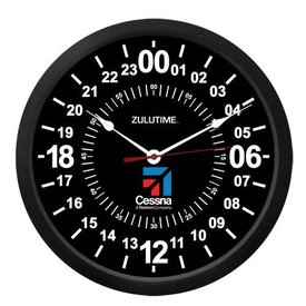 "Trintec Industries Cessna 10"" ZULUTIME Wall Clock"