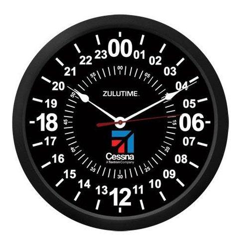 """Cessna 10"""" ZULUTIME Wall Clock"""