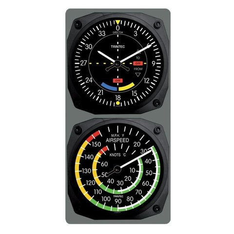 TRINTEC VOR CLOCK/AIRSPEED THERMOMETER 6.5