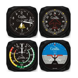Trintec Industries Cessna Classic Instrument Coaster Set