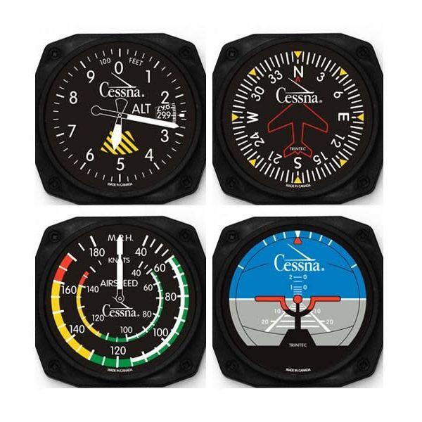Trintec Industries Cessna Classic Instrument Coaster Set