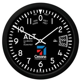 "Trintec Industries Cessna 10"" Altimeter Round Clock (NEW)"