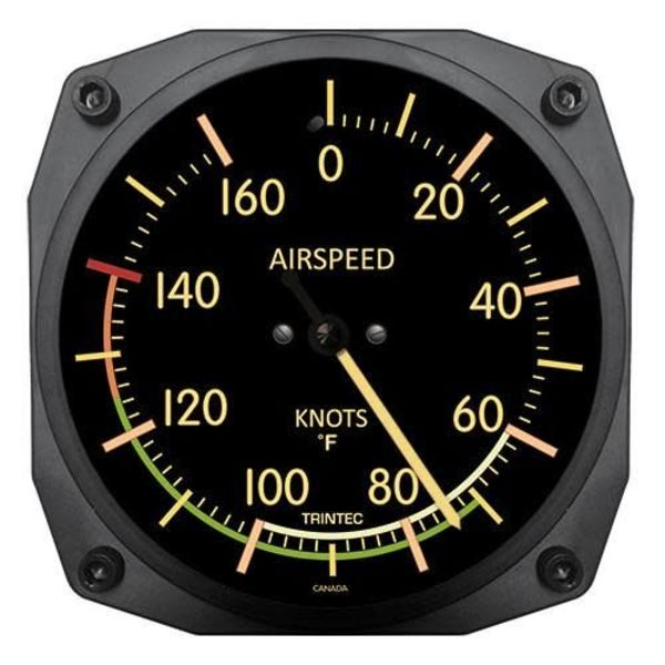 Trintec Industries Vintage Airspeed Indicator Thermometer 0 Fahrenheit