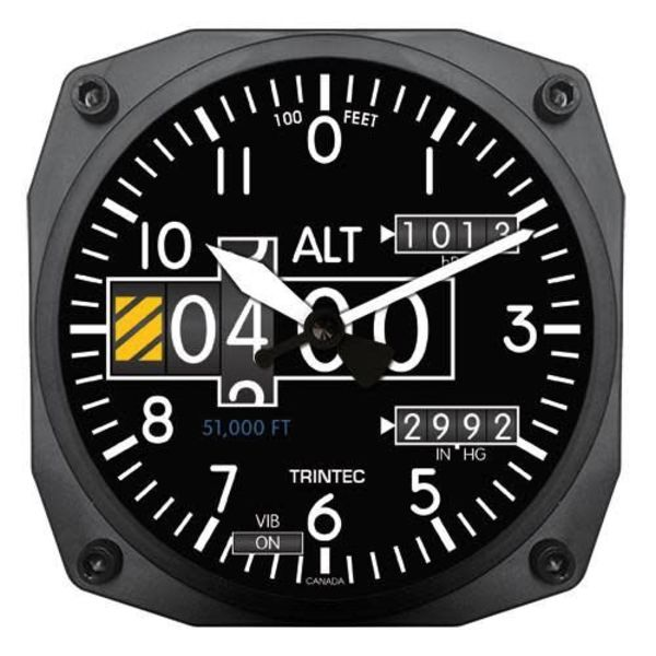 Trintec Industries Modern Altimeter Clock