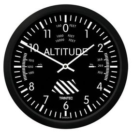 "Trintec Industries Classic 10"" Altimeter Clock"
