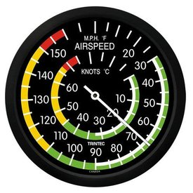 "Trintec Industries Classic 10"" Airspeed Indicator Thermometer"