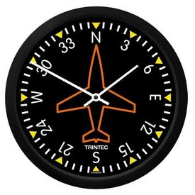 "Trintec Industries Classic 10"" Directional Gyro Clock"