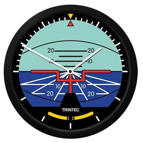 "Classic Artificial Horizon 10"" Clock"